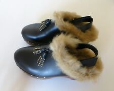 RARE!AMAZING PINKO REAL FUR SHOES GLOGS ALL YEAR AROUND IN FASHION NOW