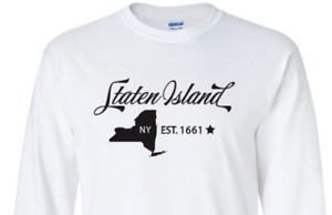 Staten Island New York T-Shirt  Long Sleeve Graphic tee