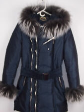 AUTHENTIC SCADA REAL RACCOON  FUR  WINTER COAT JACKET SIZE 42/12 WORE TWICE!