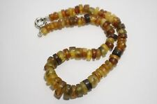 Amber necklace, beads 47 grams
