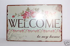 Vintage  Stamp Style  'WELCOME' Sign, plaque 20 x 30 ideal for a Hallway