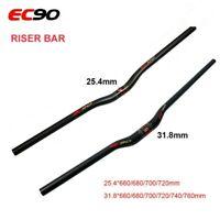EC90 Road Bike Handlebars 25.4mm MTB Bicycle Carbon Riser/Flat Bar Ultralight
