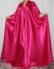 VTG Lingerie Silky Satin Lace Caftan Slip Negligee Babydoll LONG Nightgown M- 6X