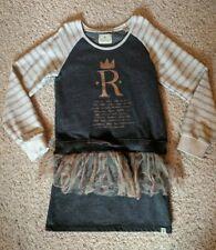*Scotch R'Belle*👑👗👑sz 10 / 140 cm gray crown girls sweatshirt dress school