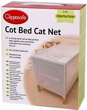 Clippasafe Cot Bed Cat Net Mesh Baby Child Kids Nursery Safety Proofing New