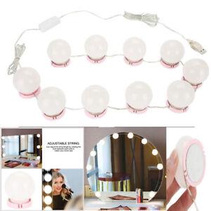 Luces De Maquillaje Lamparas Luz LED 10 Bombillas USB Para Espejo Profesional