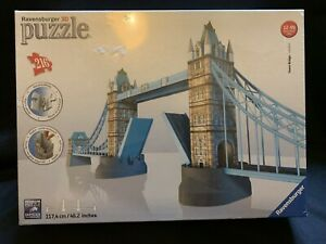 TOWER BRIDGE OF LONDON 3D PUZZLE 216 PIECE RAVENSBURGER  - Brand New And Sealed