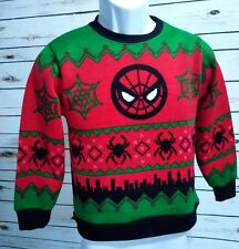 Boy's Small Spiderman Ugly Christmas Pullover Sweater.
