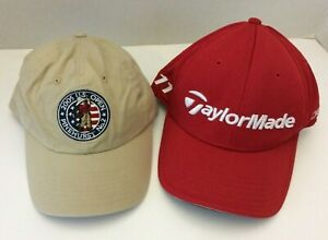 Taylormade & USGA Golf Beige/Red Adidas S/M Caps Hats