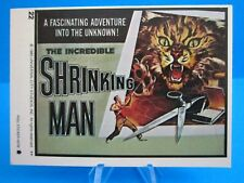 """VINTAGE 1980's TOPPS MONSTER MOVIE STICKER (""""THE INCREDIBLE SHRINKING MAN"""") #22"""