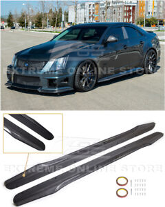 Imper For 09-14 Cadillac CTS-V Sedan Wagon   CARBON Package Side Skirts Panels