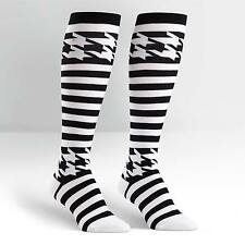 Sock It To Me Women's Knee High Socks - Mondo Guerra Houndstooth