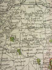 1920 COUNTY MAP of OXFORDSHIRE ~ BANBURY HENLEY WOODSTOCK PARKS SEATS RAILWAYS