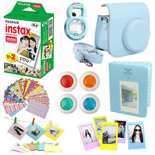Fujifilm INSTAX Mini Instant Film Twin Pack + Blue Case Camera Accessories Kit