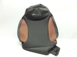 NEW GENUINE FIAT 500L FRONT RIGHT SEAT BACK  COVER TRIM GREY BROWN LEATHER RHD