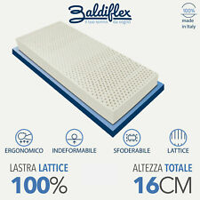 MATERASSO SINGOLO LATTICE 100% ALTEZZA 16 CM SFODERABILE ALOE 100% MADE IN ITALY