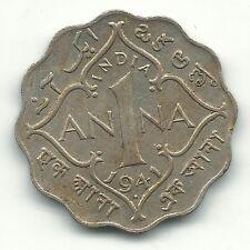 A VINTAGE HIGH GRADE AU 1941 B INDIA 1 ANNA COIN-FEB467