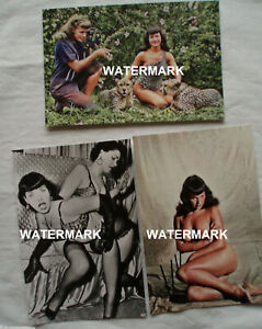 3 Photos Bettie Page and Bunny Yeager ONE