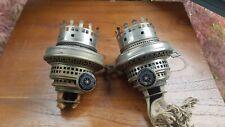 TWO Original Victorian chromed Kronos Edina 1914 oil lamp burners perfect A1
