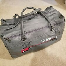 1990s Vintage Retro Wilson Pro Staff Sturdy Gym Bag In Gray