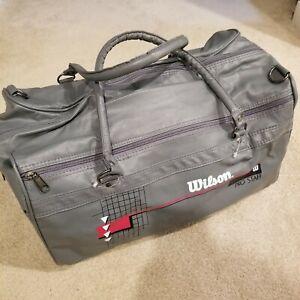 1990s Vintage Retro Wilson Pro Staff Sturdy Gym Bag In Gray