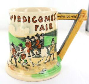 .1935 ENGLISH CROWN DEVON WIDDICOMBE FAIR LARGE MUSICAL TANKARD.
