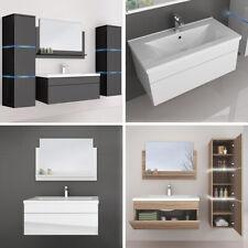 HOME DELUXE Badmöbel Badezimmer Badezimmermöbel Waschbecken Schrank Spiegel Set