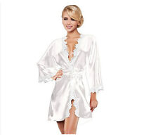 Women Sexy Lingerie Lace Robe Dress Sleepwear Pajamas Long Nightwear G-string