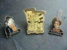 Beau lot de pin's de Pont l'Abbé: Bigoudenne (fete des brodeuses) coiffe-costume