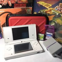 Nintendo DSi Handheld Game Console - White , Game Bundle With Charger And Case