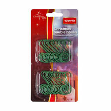 40Pc Christmas Tree S Hooks Bauble Balls Decorations Ornament Handy Hanger 4.5cm