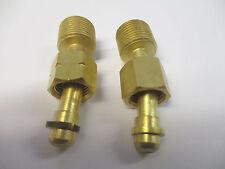 """2 x SWP 3/8"""" - 1/4"""" Bent Nut Gas Cylinder Adaptor RH LH"""