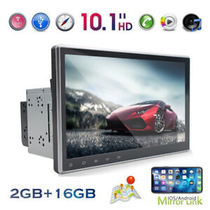 10.1'' 2DIN Rotatable Android 10 Touch Screen Car Stereo Radio GPS Navi Wifi FM