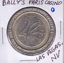 CASINO $1 TOKEN CHIP - BALLY'S PARIS CASINO -  LAS VEGAS, NV
