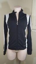 Victoria's Secret Jacket PINK Full Zip Up Yoga Fitness Small Black White