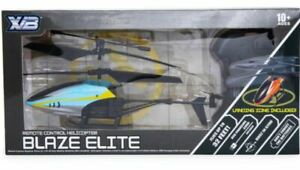 NEW Blaze Elite Remote Control Helicopter Drone & Landing Zone Up to 32ft Blue