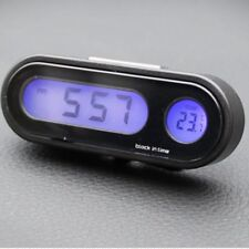Multifunctional Small Digital LCD Display Blue Backlight Car Clock Thermometer L
