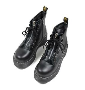 Womens Zip Creepers Chunky Cleated Ankle Boots Ladies Platform Round Toe Shoes