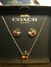 Authentic Coach Necklace and Earring Set
