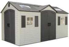 Lifetime Garden Sheds 60079 8 x 15 ft Dual Entry Plastic Storage Shed