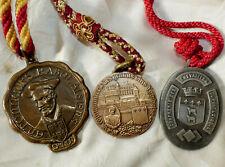 Lot 3 Anciennes Médailles Confréries Oenologie Gastronomie du VIN société