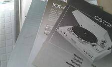 Original BDA Bedienungsanleitung Denon DCD 735 / 635 CD Player Deutsch EN FR ES