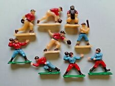 Vintage Plastic Sports Football and Baseball Cake Toppers Decorations