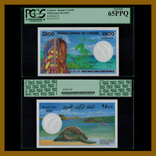 Comoros 2500 Francs, ND (1997) P-13 PGCS 65 PPQ