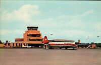 Vintage Postcard, London Ontario Air terminal with Air Canada Airplane, c1960s