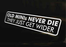 OLD MINI WIDER Car Decal Sticker Funny Cooper Clubman 1275 City Mayfair Classic