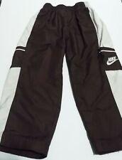 Nike Boys Size 4T Jogger Track Mesh Lining Pants Brown & White Pockets Logo