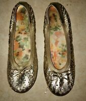 Womens Vionic Surin 8.5 Ballet Flats Shoes Gold