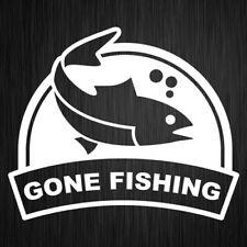 Gone Fishing Sticker Vinyl Fish Car Boat Decal 125mm x 105mm #1