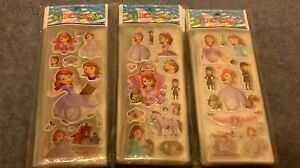 PRINCESS SOFIA THE FIRST STICKERS SHEET BUY 5 GET 5 FREE BIRTHDAY PARTY LOOTBAGS